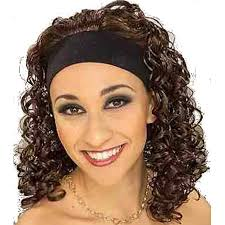 80s headbands 80s 90s hip hop dancer costume brown headband curly wig