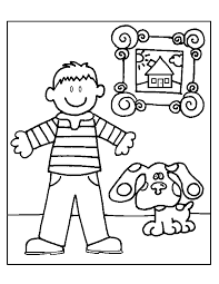 blue u0027s clues coloring pages coloring