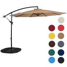 Offset Umbrella With Screen by Amazon Com Sundale Outdoor 10 Feet Aluminum Offset Patio