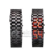 bracelet digital watches images Makibes lava watch men watch stainless steel led red digital watch jpg