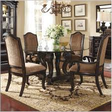 dark wood dining table white chairs room appealing and