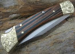 engraved buck knives buck110 custom buck knife engraved bolsters