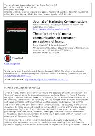 the effect of social media communication on consumer perceptions