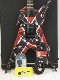 Confederate Flag Guitar Strap Dean Razroback Dimebag Signature Rebel Electric Guitar W Case Namm
