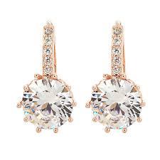 types of earrings for women 2018 new vintage earrings gold cz bling drop earrings