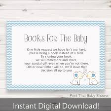 baby shower invitation insert books for baby baby shower