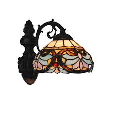 Stained Glass Wall Sconce Beautiful Lotus Pattern Stained Glass Wall Sconces Lighting