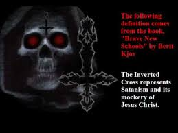 exposing the spirit of anti the bent and inverted cross