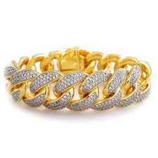 chain bracelet with diamonds images Gold diamond tennis bracelets and cuban chains on sale today jpg