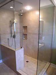 bathroom designs with walk in shower bathroom doorless shower stall merola tile wall with shower