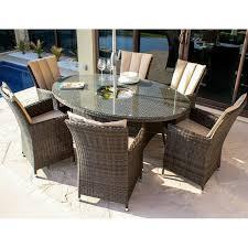 Maze Kitchen Table - maze la 6 seat dining set ice bucket oak furniture house