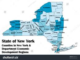New York Map State by Vector Map New York State All Stock Vector 64001251 Shutterstock