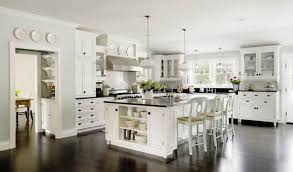 Craftsman Farmhouse Kitchen Modern White Kitchens With Dark Wood Floors Craftsman