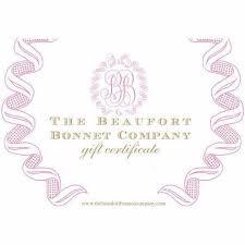 gift card company t b b c gift card the beaufort bonnet company