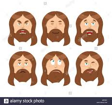 jesus emotions set expressions picture of jesus christ son of