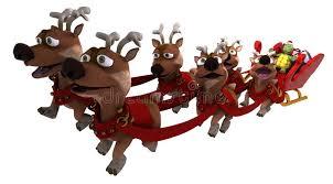 santa sleigh and reindeer tortoise santa with sleigh and reindeer stock illustration