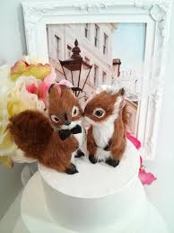 squirrel cake topper sale ooak squirrel wedding cake topper or