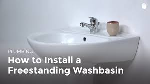 how to install plumbing how to install a pedestal sink diy projects youtube