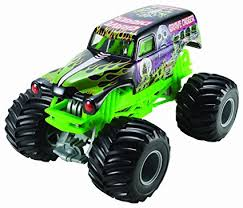 wheels monster jam grave digger truck amazon com wheels monster jam grave digger die cast vehicle 1