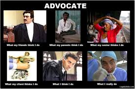 Lawyer Meme - friday fun what people think indian lawyers do versus what they