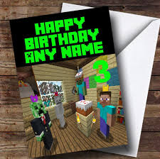 cool minecraft personalised children u0027s party invitations the