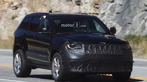 jeep truck 2018 spy photos jeep grand cherokee trackhawk filmed up close in detroit