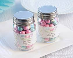 jar party favors gender reveal personalized mini jar reveal party favors by