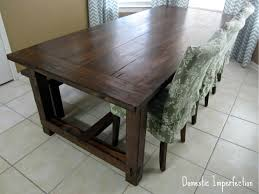 diy farmhouse table and bench domestic imperfection