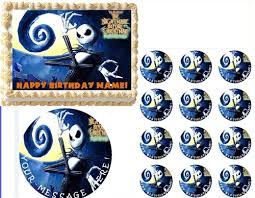 nightmare before christmas cake toppers before christmas skellington edible cake topper frosting