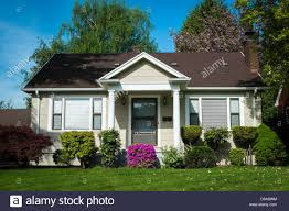 american craftsman single family american craftsman house with blue sky background