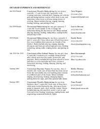 nanny resume templates