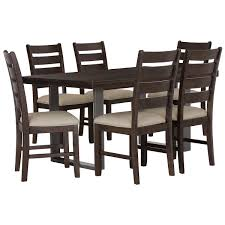 city furniture sawyer dark tone rectangular dining room