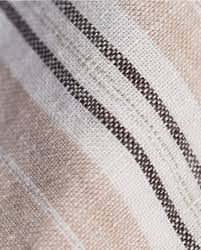 kamla 100 linen bed linen collection beige navy white stripe