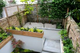 superb small garden design ideas brick fence and sand floor in the