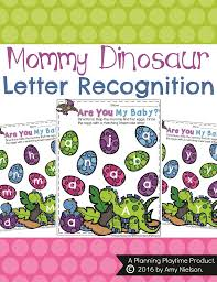 mommy dinosaur letter recognition activity for preschool