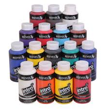 intro acrylic 500ml reeves acrylic paints back to college