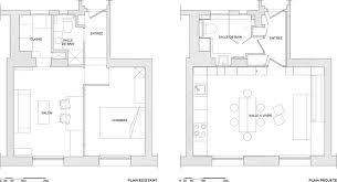 plan de la cuisine oblique architecte 18ème bardin architecte architecture