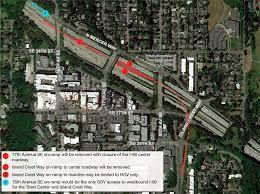 Wsdot Traffic Map Mercer Island To Sue Sound Transit Wsdot Over I 90 Access