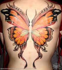 butterfly on buttocks design idea
