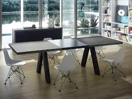 concrete dining room table black wooden dining table room iranews simple outdoor rectangular