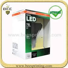 light bulb box packaging design frameless led light box paper