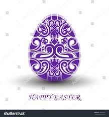 ornamental egg easter stock vector 395569834