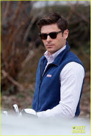 Zac Efron Gets Ready To Hit Some Balls For U0027dirty Grandpa U0027 Photo