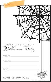 halloween invitation templates in black and white u2013 fun for christmas