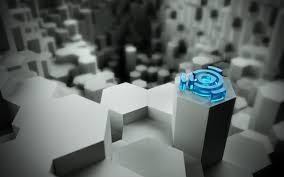 3d view hexagons linux signs studio ubuntu walldevil