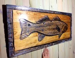 redfish painting with rustic distressed wooden frame home zoom