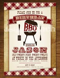 funny picnic and bbq party invitation card for birthday event and
