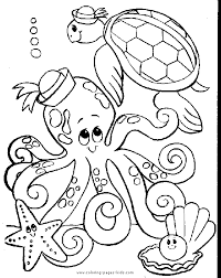 free halloween vintage color coloring coloring