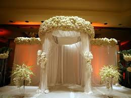 Pergola Wedding Decorations by Grand White Wedding Mandap Clean Color Palette White Wedding