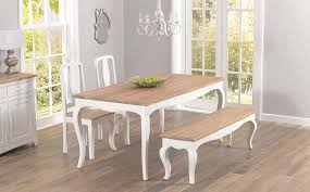 stunning shabby chic cream dining table and chairs 28 about